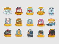 Badges for Startup Alley
