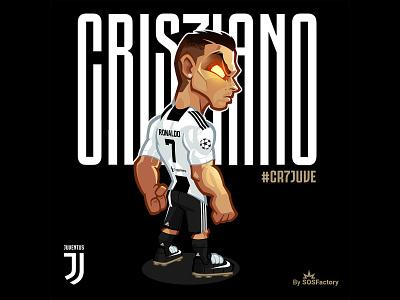 Cristiano Ronaldo Illustration football sport sport design cr7juve cristiano ronaldo cristiano mascot character illustration mascot design