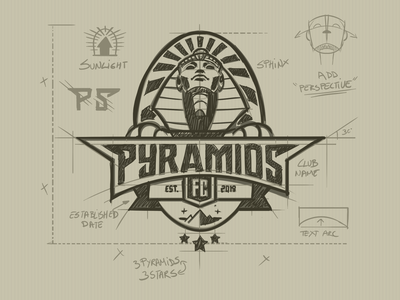Pyramids Fc logo design construction sport football pyramids fc pyramids mascot character egypt sphinx mascot logos mascot mascot logo cartoon logo mascot design