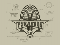 Pyramids Fc logo design construction
