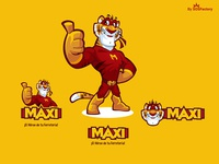 Mascot and logo design for Maxi
