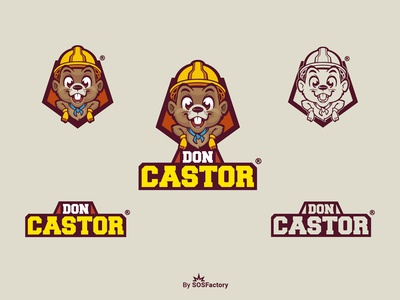 Don Castor mascot and logo design