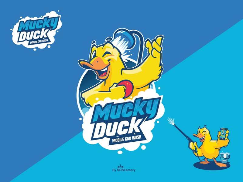 Mascot and logo design for Mucky Duck corporate mascot character design corporate character mascot design mascot mascot logo mascot character