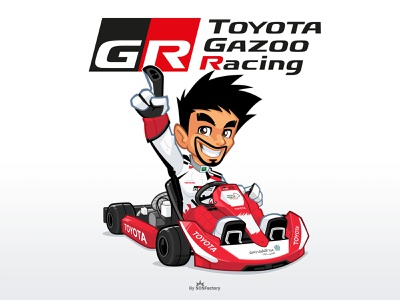 Toyota Gazoo Mascot Design mascot logo corporate mascot character design corporate illustration mascot character mascot design