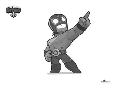 El Primo SOSFactory Style mascot design illustration concept art supercell brawl stars characterdesign gaming