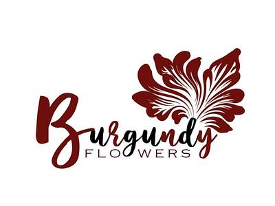 Burgundy Flowers  - Design concept logobranding logo designers awesomelogo branding and identity branding agency branding concept branding design designer logo logotype logodesign designer design