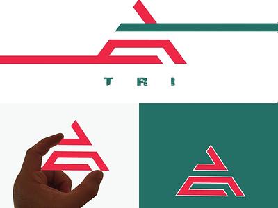 TRI logo concept fashiondesigner monogram logomaker branding designconcept businessbranding logodesigner brand graphicdesigner designer