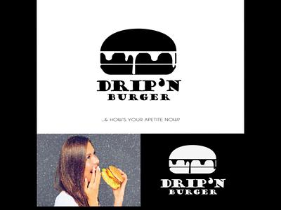 DRIP'N Burger design conc3pt logomaker graphic amazinglogo designs logotype brand brandname graphicdesigner branding logodesigner logo designer design