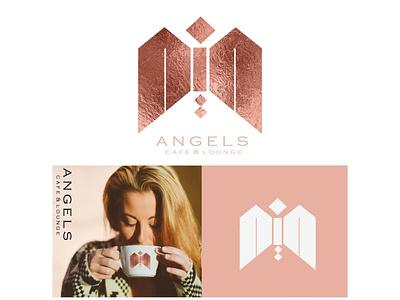 ANGELS cafe and lounge brand designpackage designconcept design branding logodesigner logomaker businessbranding graphicdesigner designer