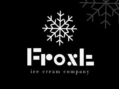 FROST ICE CREAM COMPANY  --  design concept monogram logo designpackage designconcept brand design logomaker businessbranding graphicdesigner designer