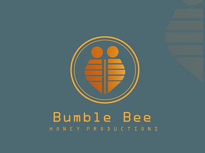 BUMBLE BEE honey productions design concept logo illustration brand designconcept businessbranding design logomaker branding graphicdesigner designer