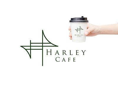 HARLEY CAFE design concept brand logodesigner graphicdesigner concept creative coffee design illustration logo logomaker designer branding