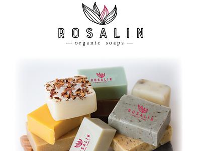 Rosalin organics soaps design concept createlogo needlogo graphicdesigner logodesign soapbranding amazinglogo designconcept logo design soap