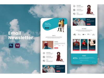 I will design mailchimp email template web clickfunnels vector social shopify illustration dropshipping design branding typography mailchimp