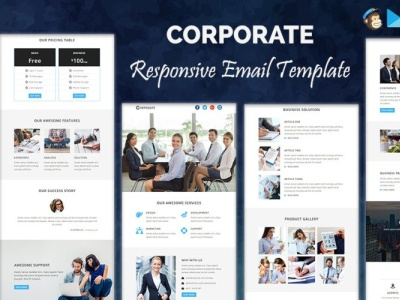 I will design mailchimp email template, design web vector branding social shopify illustration typography dropshipping newsletter email template email