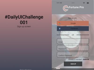 #DailyUIchallenge001 dailyui app ux ui design