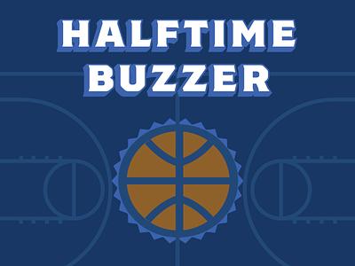 Halftime Buzzer court buzzer contest beer vector illustration design basketball