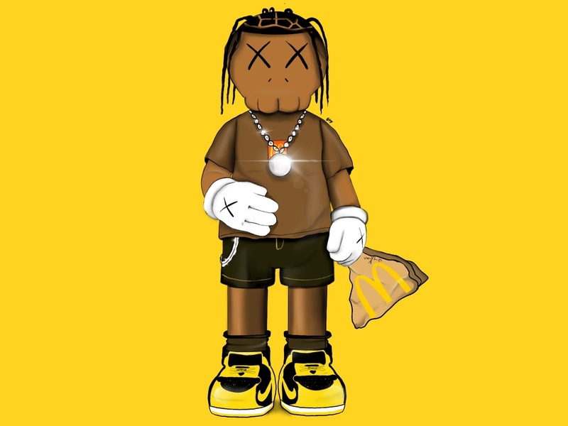 Travis Scott as a Kaws character digital digitalart figure kaws travisscott app vector illustration