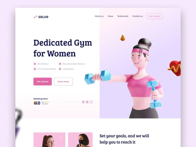 #54 - Concept Website Design Shot website design webapp pwa research typography visual design product design exercise women gym ux vector illustration minimal freelance ui logo design branding app