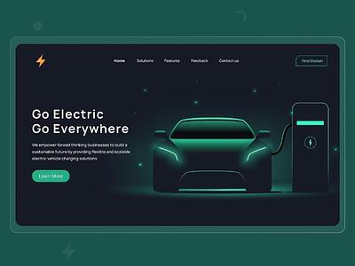 #58 - Concept Website Design Shot electric car web website design research typography webapp visual design product design ux vector illustration ui minimal freelance logo design branding app