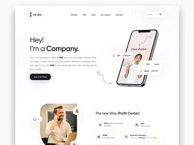 72 - Concept Website Design Shot pwa typography web website design research webapp visual design product design company profit ux vector illustration minimal freelance ui logo design branding app