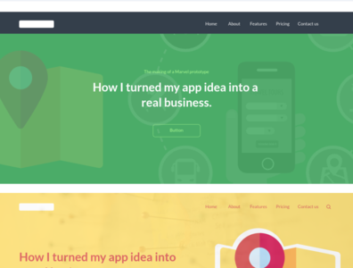 Headers marvelapp design page layout css flatdesign webdesign web layout page design