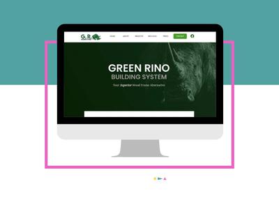 Green Rino- Mockup ux web branding design