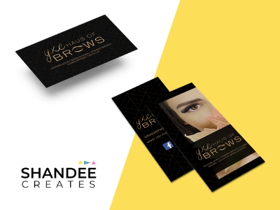 Haus of Brows design logo business card design businesscard promotional design brochure design branding branding and identity