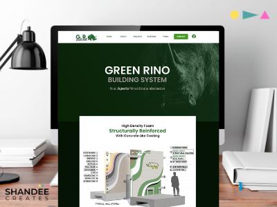 Mockup: Green Rhino promotional design branding and identity web branding