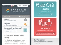 Cambrian Credit Union mobile homepage