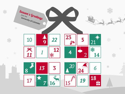 Leicester University advent calendar