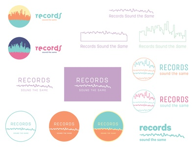Records Sound the Same ideas illustrator icon logo identity mark logos wip ideas personal brand brand