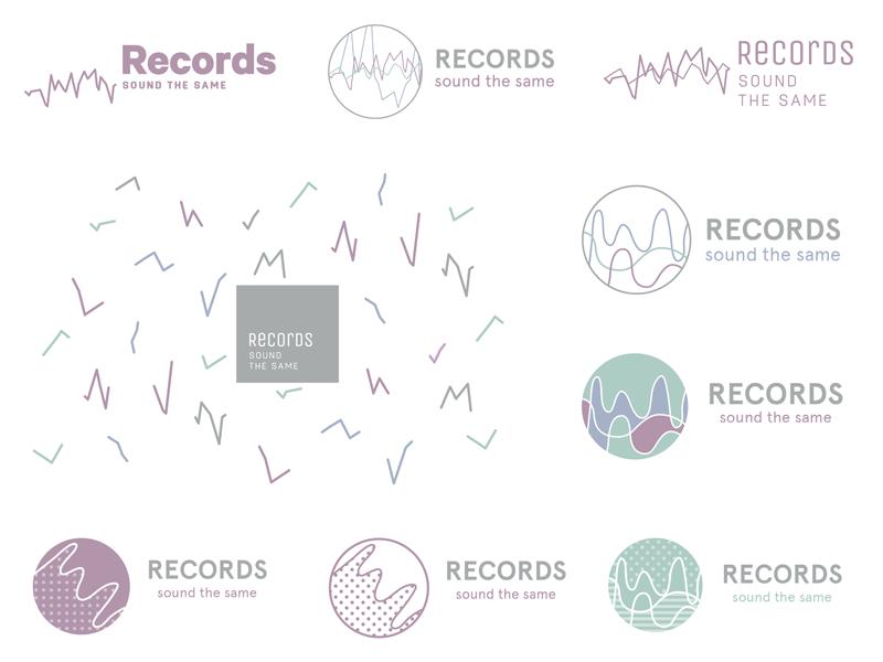 Records Sound the Same ideas illustrator icon logo identity mark logos wip ideas personal brand brand