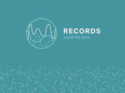 Records Sound the Same brand illustrator icon logo identity mark logos wip ideas personal brand brand