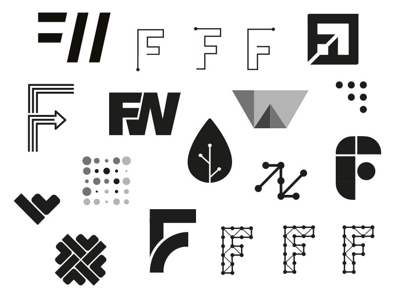 Future of Work ideas technology wip illustrator identity ideas monogram icon brand logo mark