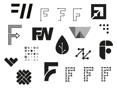 Future of Work ideas technology wip illustrator identity ideas monogram icon brand logo mark