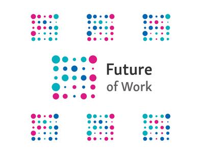Future of Work second choice flexible technology logos colour wip monogram mark logo identity ideas icon brand