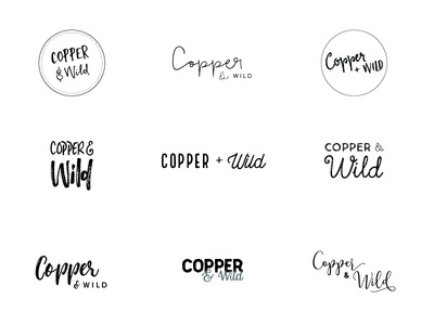 Copper and Wild Ideas personal brand illustrator identity type wip ideas logo typography brand
