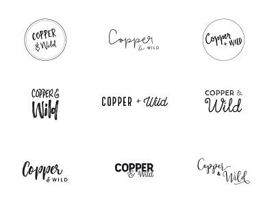 Copper and Wild Ideas personal brand illustrator identity type wip ideas logo typography brand