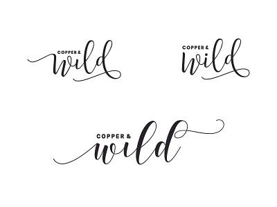 Copper and Wild developments personal brand illustrator identity type wip ideas logo typography brand