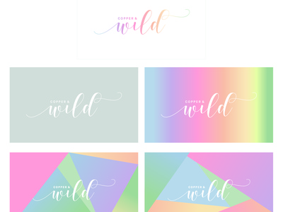 Copper and Wild logo personal brand illustrator identity type wip ideas logo typography brand