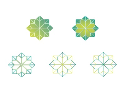 The Wrap Show Magic Summer remix marks symmetry spring lime green icon geometric logo mark event branding brand baby