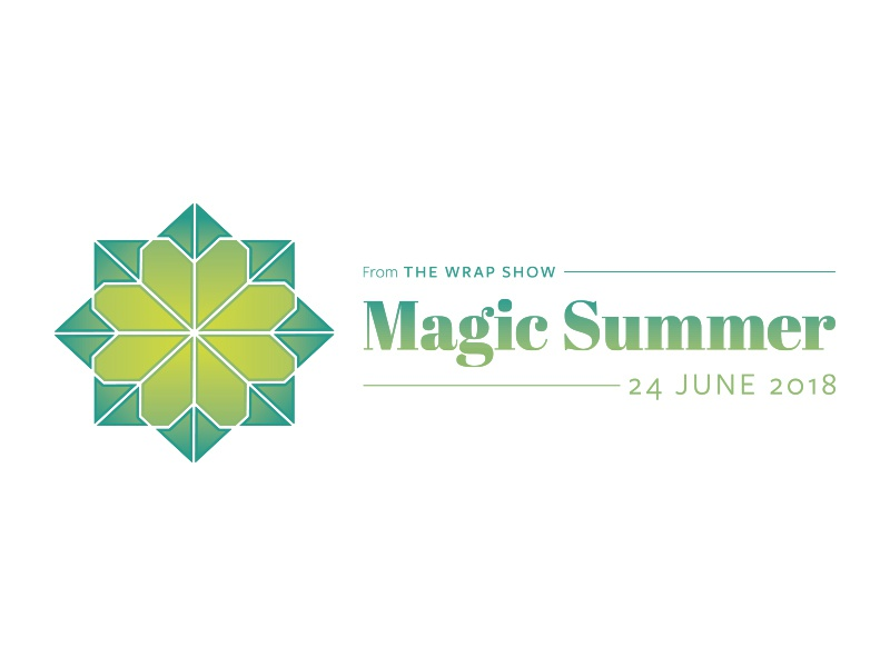 The Wrap Show Magic Summer original idea symmetry spring lime green icon geometric logo mark event branding brand baby