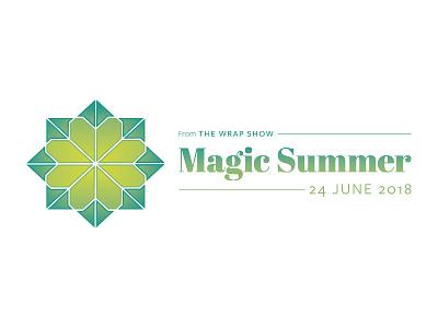 The Wrap Show Magic Summer original idea symmetry spring lime green icon geometric logo mark event branding brand baby