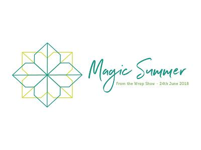 The Wrap Show Magic Summer logo symmetry spring lime green icon geometric logo mark event branding brand baby