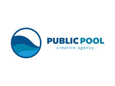 Public Pool logos branding type typography water blue mark illustrator identity wip ideas logo brand
