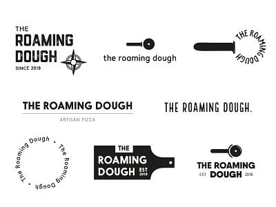 The Roaming Dough Ideas startuplogo startup indie type ideas wip typography pizza identity brand and identity logo branding brand