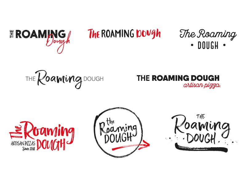 The Roaming Dough Ideas 2 indie startuplogo startup artisan calligraphy typography type logo ideas wip pizza identity brand and identity branding brand