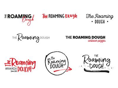 The Roaming Dough Ideas 2 indie startuplogo startup artisan calligraphy typography type logo ideas wip pizza identity brand and identity branding brand