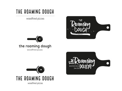 The Roaming Dough idea development ideas startup indie pizza type typography illustration wip logo identity brand and identity branding brand